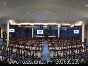 Royal Sydney Yacht Squadron Projection Screen Hire