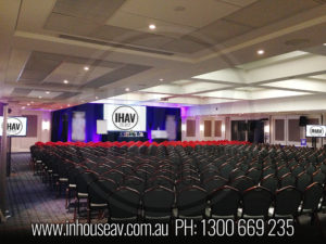 The Swiss Hotel Projection Screen Hire