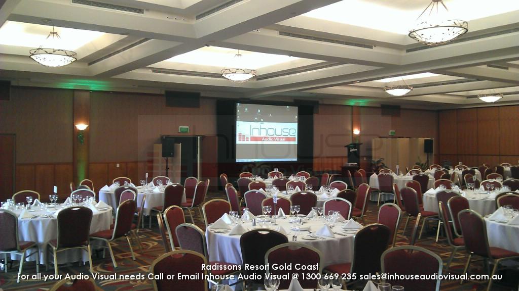 Radissons Resort Gold Coast Audio Visual Hire