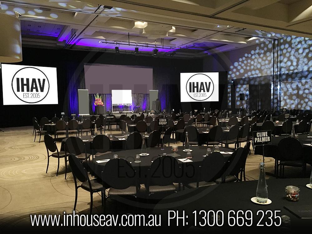 QT Gold Coast Projection Screen Hire
